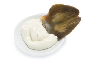 Artischockenblatt mit Crème fraîche